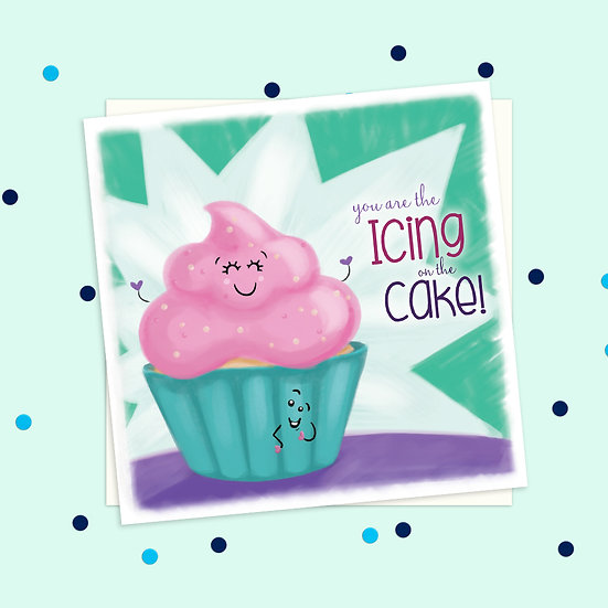 Greeting Card - Cupcake Sweet Treats Square Card