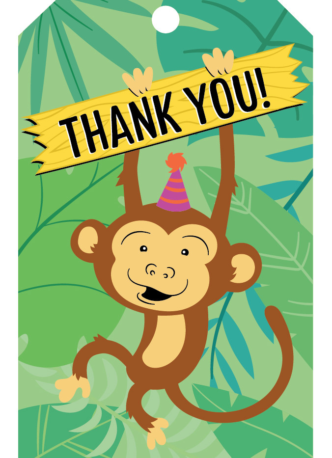 Children's Zoo Themed Birthday Party Thank You Tag