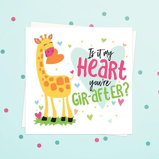 Greeting Card - Giraffe Animal Pun Square Cards