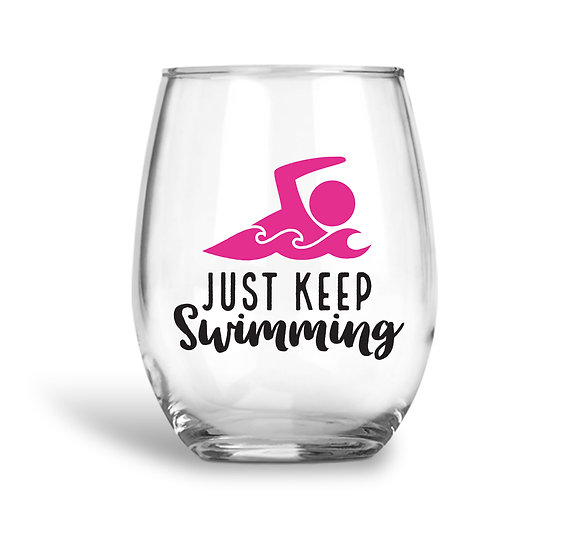 Swimming Wine Glass
