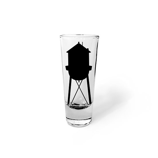 Water Tower Shot Glass with City Name