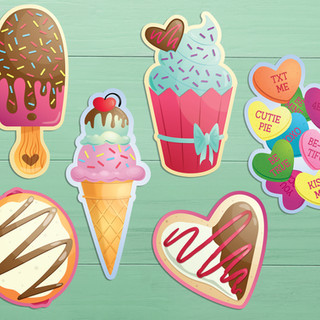 Sweet Treat Die-Cut Valentines