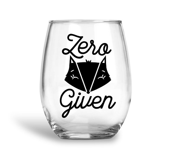 Zero Fox Given Wine Glass