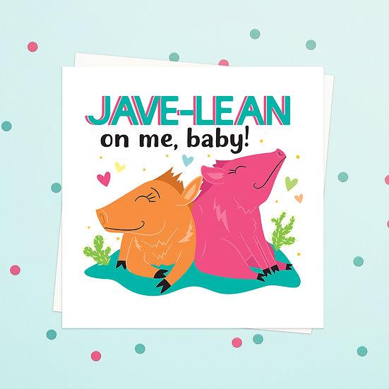 Greeting Card - Javelina Animal Pun Square Cards