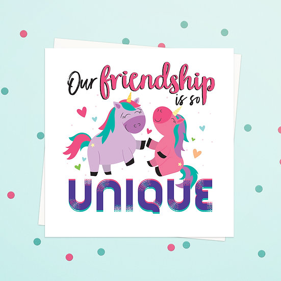 Greeting Card - Unicorn Animal Pun Square Cards