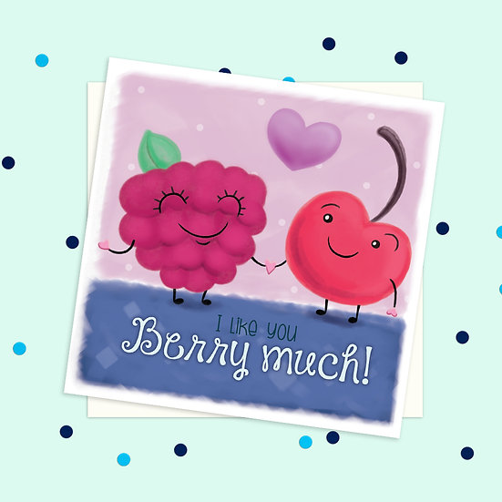 Greeting Card - Berry Sweet Treats Square Card