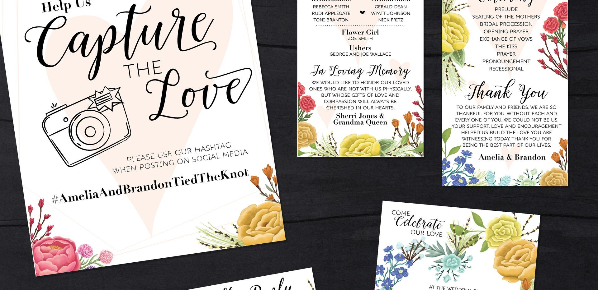 Floral Wedding Design Package