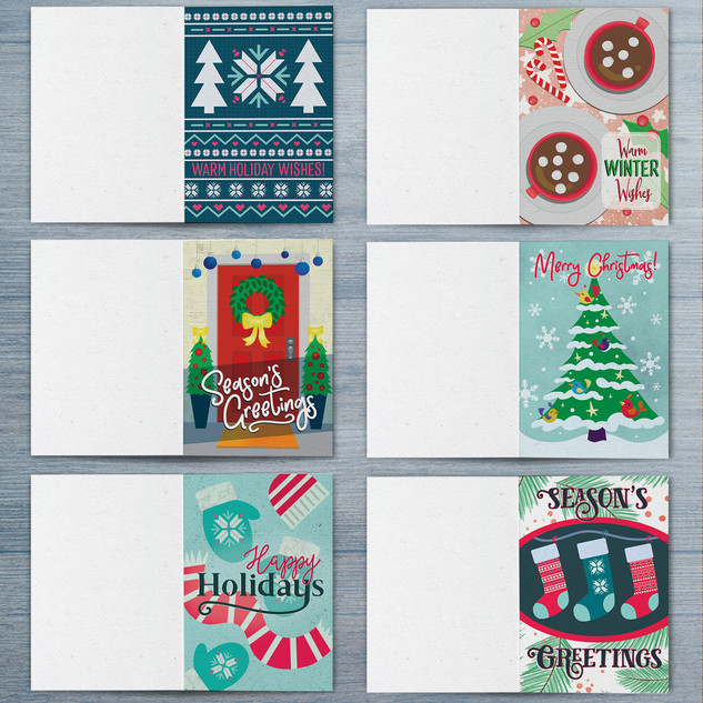 Cozy Christmas Greeting Cards