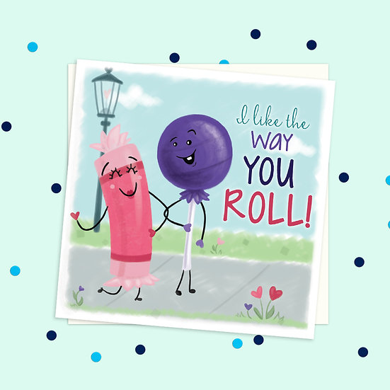 Greeting Card - Tootsie Roll Sweet Treats Square Card