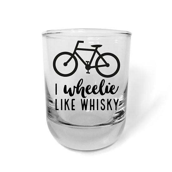 I Wheelie Like Whisky/Vodka Rocks Glass