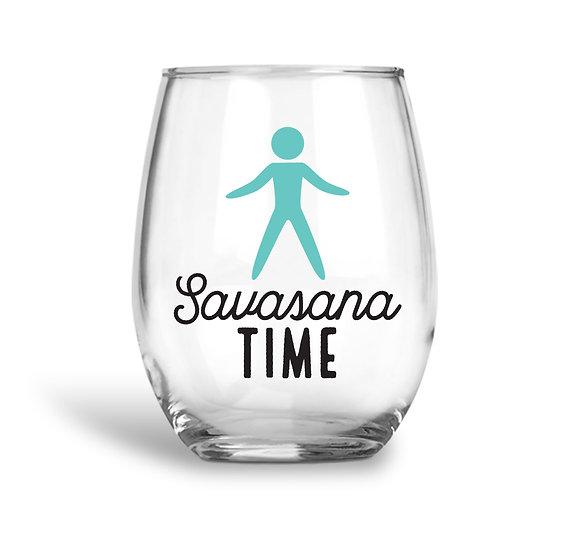 Yogi Savasana Wine Glass
