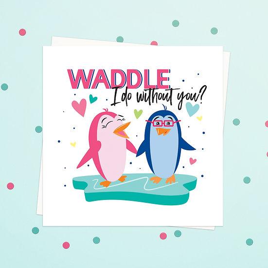 Greeting Card - Penguin Animal Pun Square Cards