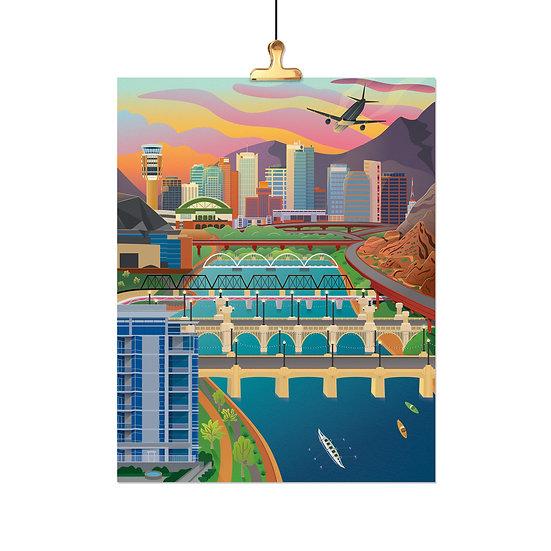 Tempe Town Lake - Phoenix Skyline