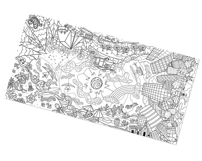 Giant 360 Coloring Sheet - Outdoors