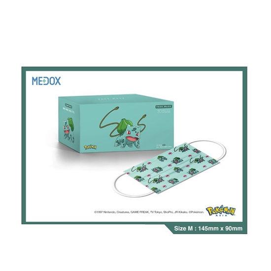 Pokémon x Medox 香港製造防疫中童口罩 奇異種子 30片/盒