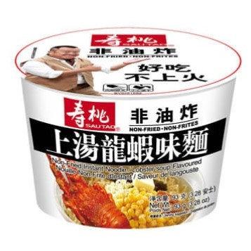 壽桃牌 非油炸 上湯龍蝦味(碗裝) 93G