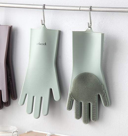 硅膠洗碗手套
