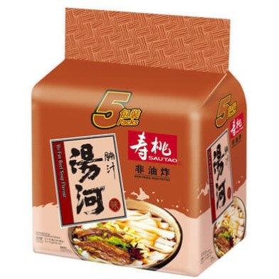 壽桃牌 腩汁味 湯河 5包裝