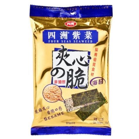 四洲 夾心紫菜 芝麻 15G
