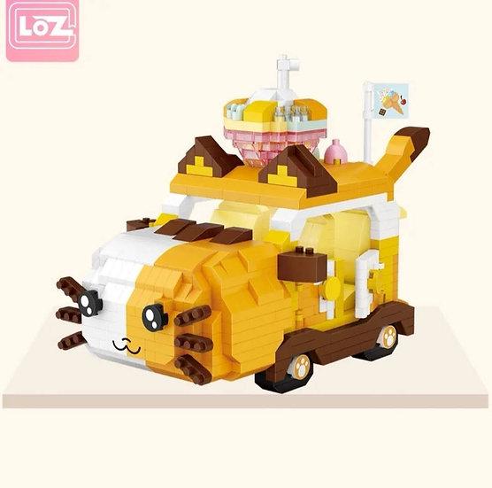 LOZ俐智迷李小積木組裝玩具 小貓汽車
