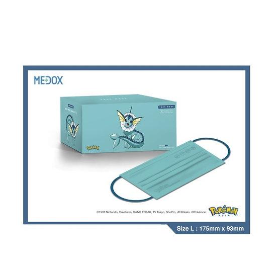 Pokémon x Medox 香港製造防疫成人口罩 水伊貝 30片/盒