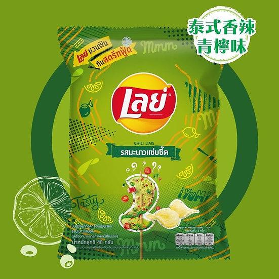 泰國LAYS 薯片 泰式香辣青檸味 50G