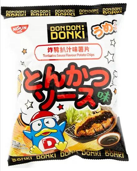 Donki x 日清炸豬扒味薯片 70g