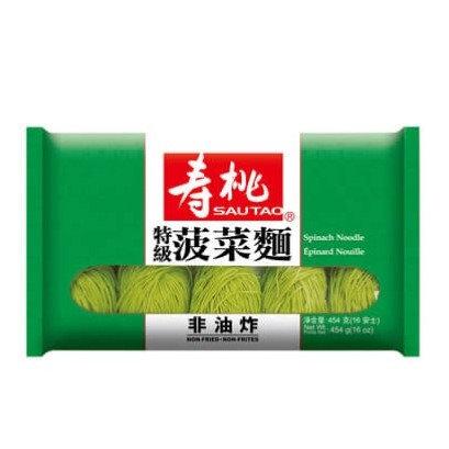 壽桃牌 特級菠菜麵 454G