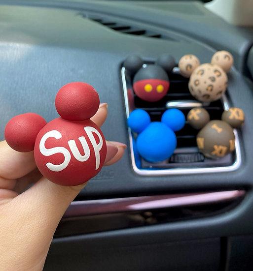 汽車香薰裝飾夾-米老鼠頭