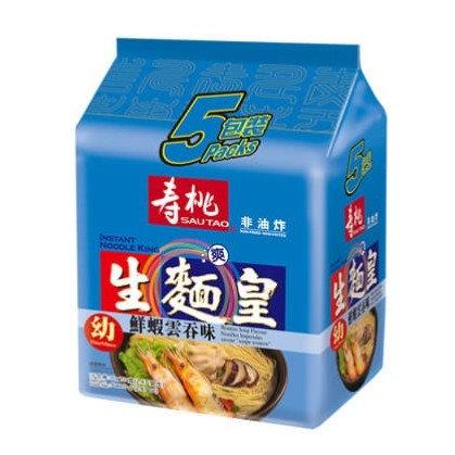 壽桃牌 生麵皇 鮮蝦雲吞味 5包裝
