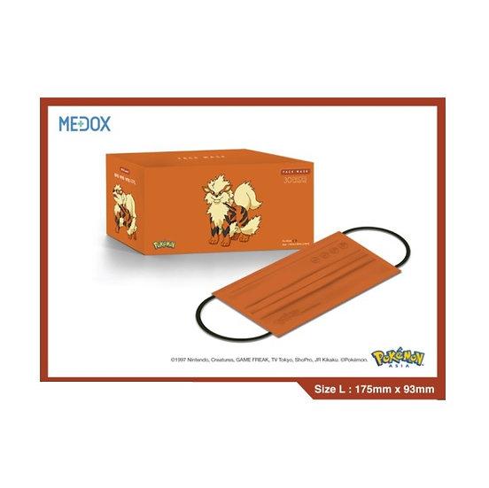 Pokémon x Medox 香港製造防疫成人口罩 奉神犬 30片/盒