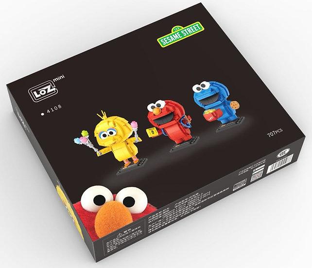 LOZ俐智迷李小積木組裝玩具 芝麻街一套三隻 (707 pcs)