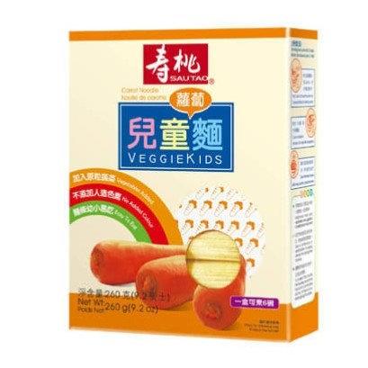 壽桃牌 兒童麵 蘿蔔麵 260g