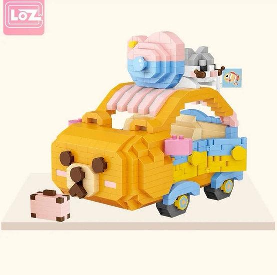 LOZ俐智迷李小積木組裝玩具 小熊汽車