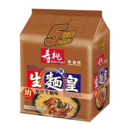 壽桃牌 生麵皇 原汁牛腩味 5包裝