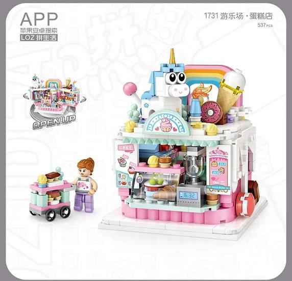 LOZ俐智迷李小積木組裝玩具 蛋糕店