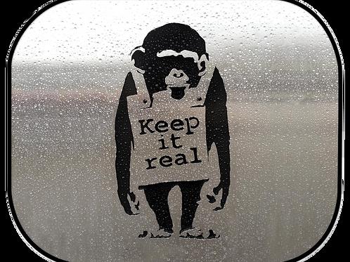 """Side Sunshade - """"Keep It Real"""" (44x38cm)"""