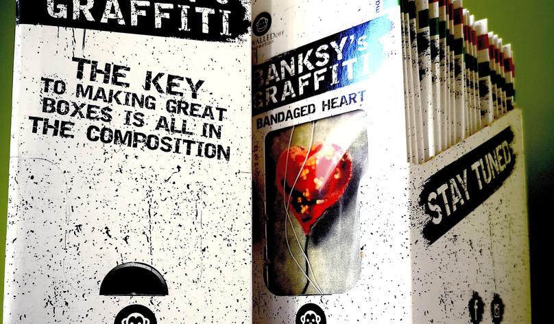 Banksy's Graffiti Car Perfumes Box
