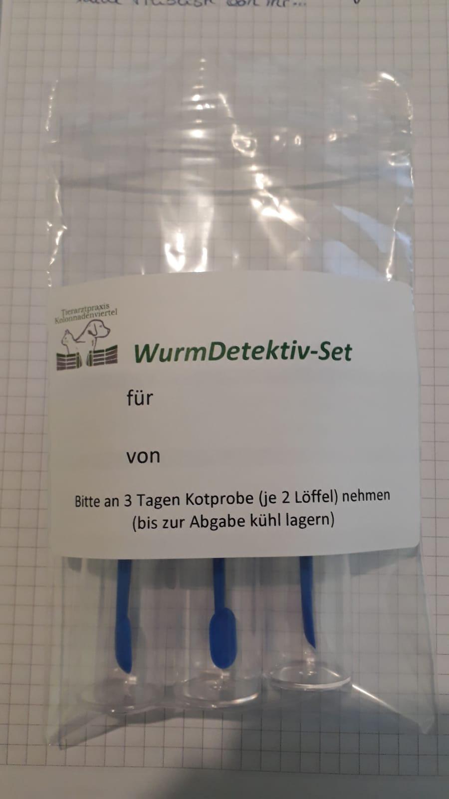 Beprobungsset zum Nachweis von Würmern, Wurmtest für Hunde, Wurmtest Kit zur Kotuntersuchung