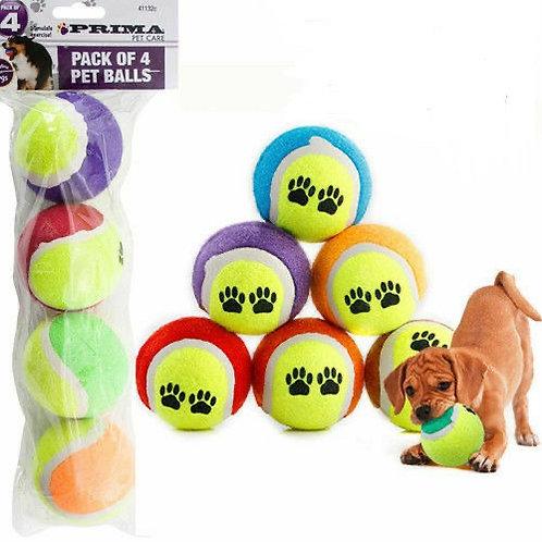 4 Pack Dog Balls