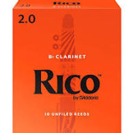 03. 10 Pack Rico Clarinet Reeds