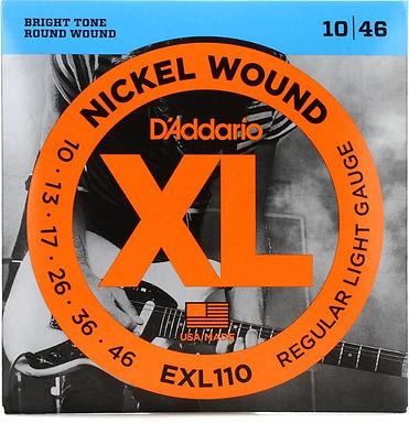 EXL 110 Daddario - XL Electric Guitar Strings, 10-46