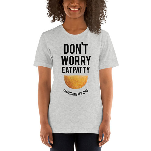 Don't Worry Eat Patty Gray T-Shirt