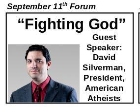 Sept. 11, 2016: Fighting God