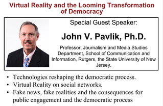 July 9th Forum: Virtual Reality and the Looming Transformation of Democracy
