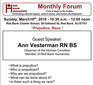 March 2019 Forum: Prejudice. Race.