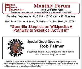 September, 2018: Guerilla Skeptics on Wikipedia