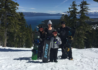 Family Snowboarding Lake Tahoe