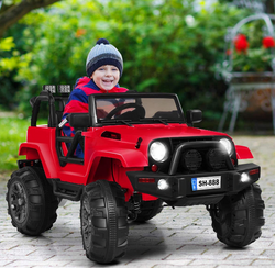 Costzon Ride On Truck, 12V Battery Powered Electric Ride On Car w/ 2.4 GHZ Parental Remote Control