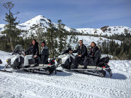 Family Snowmobile Ride Adventure